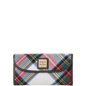 NWT Dooney & Bourke Tartan Plaid Clutch Wallet